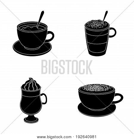 American, late, irish, cappuccino.Different types of coffee set collection icons in black style vector symbol stock illustration .