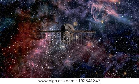 Spacecraft Progress Orbiting The Space.