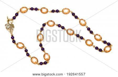 Nice necklace isolated on white background