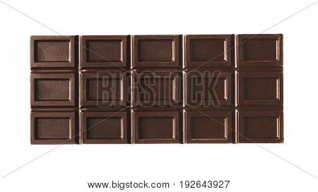 Chocolate bar, isolated on white
