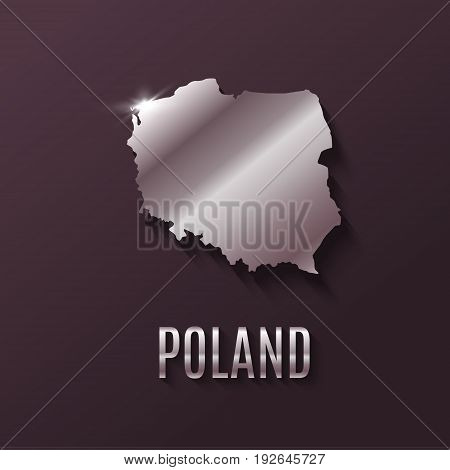 High quality map of Poland with borders of the regions