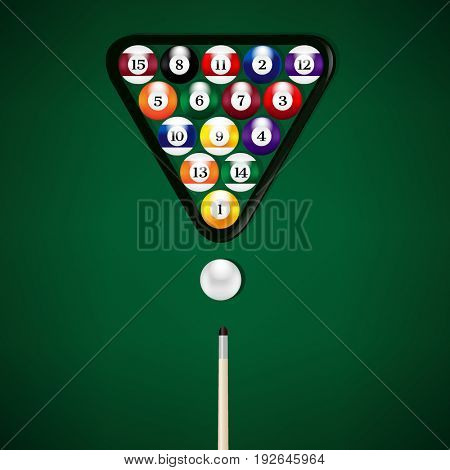 Billiard Balls Illustration