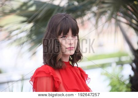 Stacy Martin attends the 'Redoubtable (Le Redoutable)' photocall during the 70th annual Cannes Film Festival at Palais des Festivals on May 21, 2017 in Cannes, France.