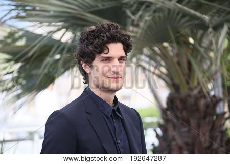 Louis Garrel attends the 'Redoutable (Le Redoutable)' photocall during the 70th Cannes Film Festival at Palais on May 21, 2017 in Cannes, France.