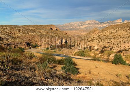 The Rio Grande as it Forms the International Border between the United States and Mexico, Big Bend National Park, Texas