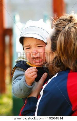 Little Crying Boy