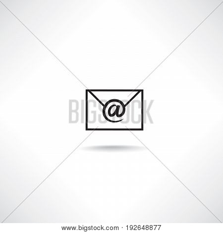 Mail sign. E-mail icon. Email letter symbol isolated with shadow
