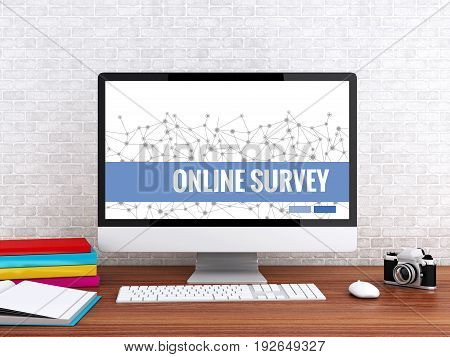 3D Computer With Words Online Survey.