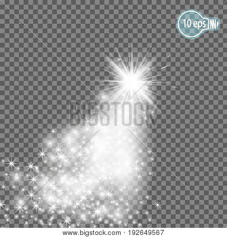 magic stars Isolated spark - stock vector.stock vector