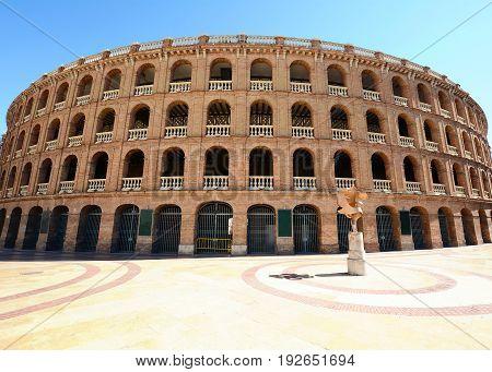Bullring Arena (plaza De Toros) In Valencia.