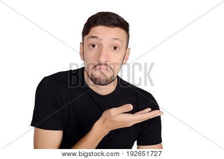 Man Showing Something.