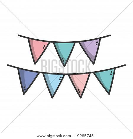 flag party to decoration design vector illustration