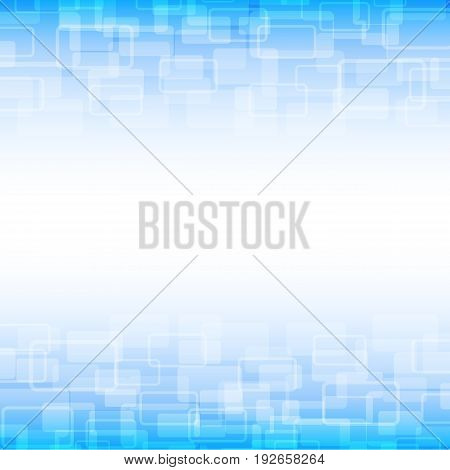 blue geometric transparency square  background technology concept