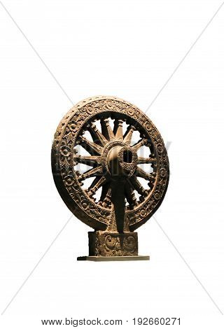 Dharma Statue the spiri of Buddhist white background isolate