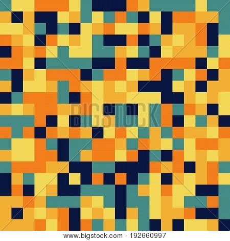 Colorful Seamless Pattern In Pixel 8Bit Style In Solid Colors