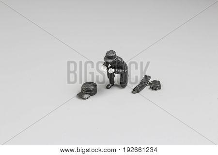 Figure Of Crime Scene Photo Of A Fresh