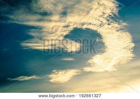 nature abstract of white cloud and blue sky background. vintage processing