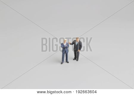 Group Minia Ture People Business Man Standing