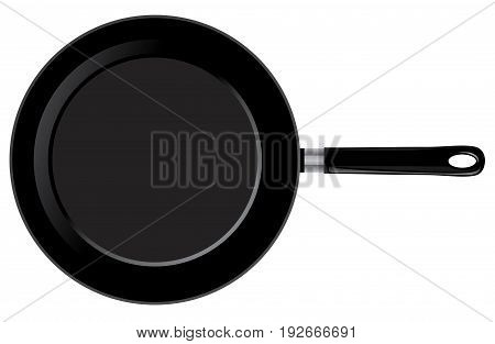 vector illustration of a frying pan isolated on white background