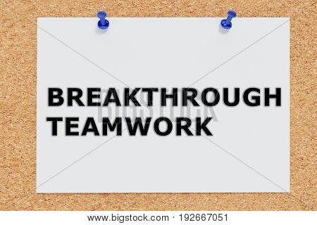 Breakthrough Teamwork Concept