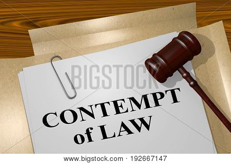 Contempt Of Law Concept