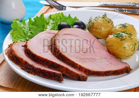 Delicious Spicy Beef Roast Cut In Slices