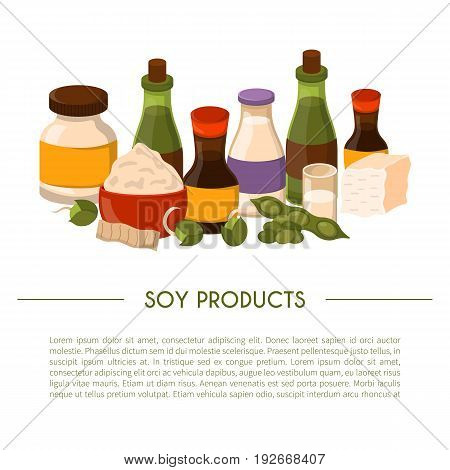 Vector Cartoon Soy Food Background