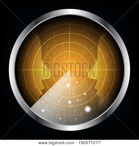 Technology Digital Future Abstract Radar Screen Human Face Background