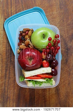 Lunch box for healthy eating at the office and school