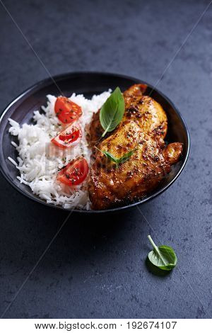 Spicy Chicken Wings with Basmati Rice