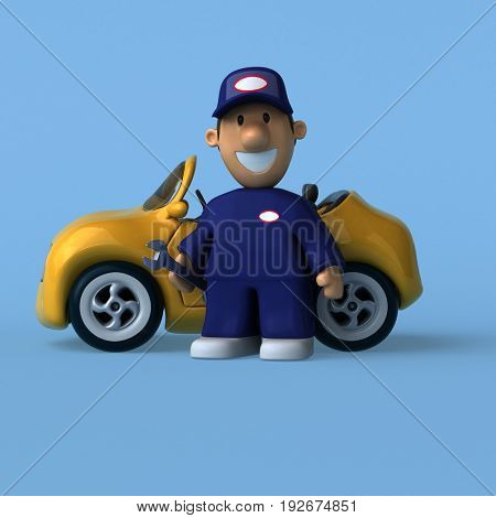Mechanic - 3D Illustration