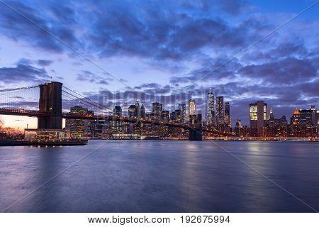 Beautiful view of New York City at night