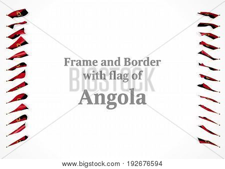 Frame And Border With Flag Of Angola. 3D Illustration