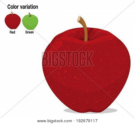Isolated apple on transparent background. There are two apples , red and green for color variation