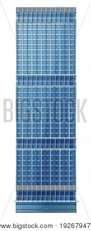 Illustration of skyscraper modern apartment and office building with facade of glass illustration on the business EPS 10 contains transparency layered vector file.