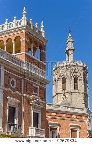 Home Of The Archbishop And Cathedral Tower In Valencia