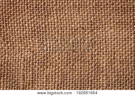 Close up of natural burlap background
