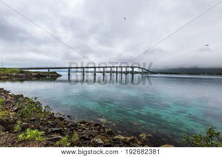 Bridge In Sortland.  Norway.
