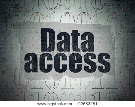 Data concept: Painted black text Data Access on Digital Data Paper background with   Binary Code