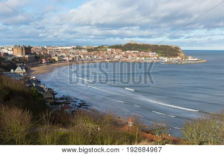 Scarborough North Yorkshire England uk seaside town and tourist destination