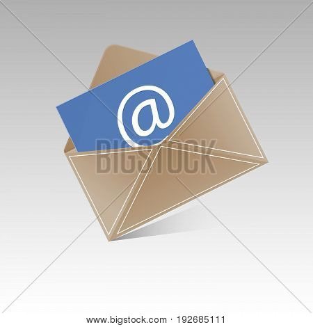 Open  Envelope With Invitation Card Realistic Mockup Isolated Eps 10