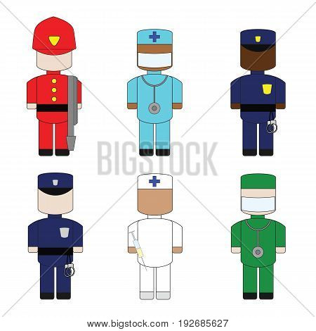 Set the profession help to people in uniform