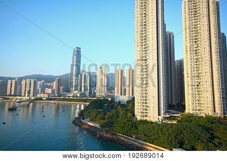 skylines of urban area at daytime