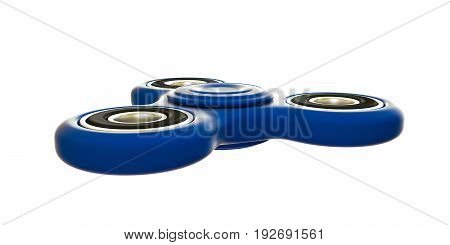 3d illustration of a fidget spinner isolated on white background