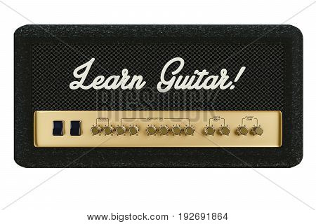 3d illustration of a guitar amplifier isolated on white background