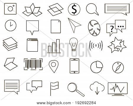 Logo collection black and white vector illustration