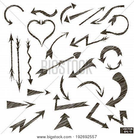 Set Of Hand-drawn Arrows
