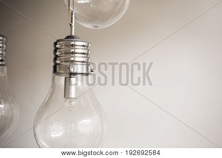 Close up image of light bulb representing overthinking concept