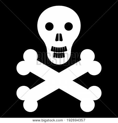 Skull And Bones   It Is The White Color Icon .