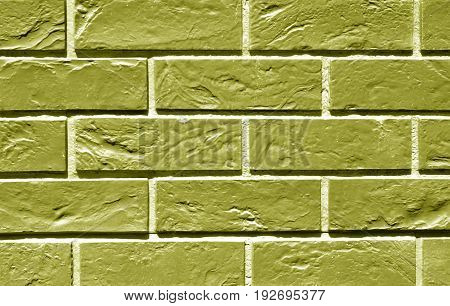 Yellow Color Brick Wall Texture.